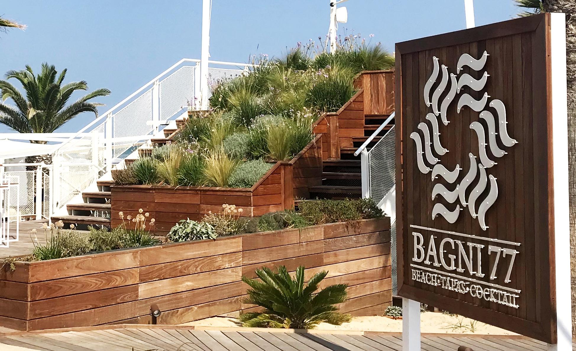 Progetto stabilimento balneare Bagni77